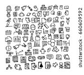 doodle education icons. hand...   Shutterstock .eps vector #660609592