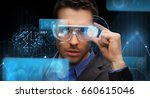 augmented reality  technology ... | Shutterstock . vector #660615046