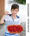little smiley caucasian boy... | Shutterstock . vector #660620368