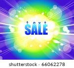 shopping sale poster | Shutterstock .eps vector #66062278