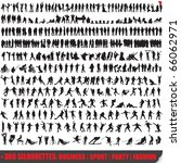 Vector set of 300 very detailed people silhouettes