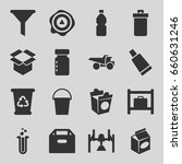 container icons set. set of 16... | Shutterstock .eps vector #660631246