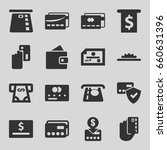 credit icons set. set of 16... | Shutterstock .eps vector #660631396