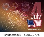 american independence day.... | Shutterstock .eps vector #660632776
