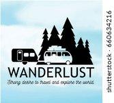 wanderlust logo design.black... | Shutterstock .eps vector #660634216