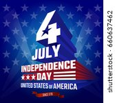 fourth of july independence day ... | Shutterstock .eps vector #660637462