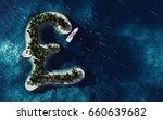 success way. tropical island in ... | Shutterstock . vector #660639682