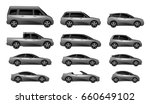 set of different car type on a... | Shutterstock .eps vector #660649102