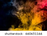 colorful smoke on black... | Shutterstock . vector #660651166