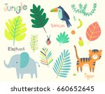 cute jungle illustration clip... | Shutterstock .eps vector #660652645