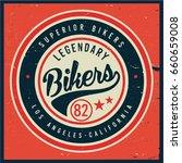 vintage biker graphics and... | Shutterstock .eps vector #660659008