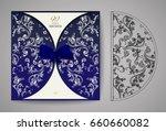 laser cut invitation card.... | Shutterstock .eps vector #660660082