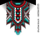 textile design for collar... | Shutterstock .eps vector #660663535