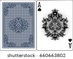 poker playing cards  vintage... | Shutterstock .eps vector #660663802