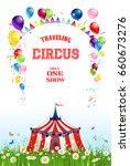 circus illustration for design... | Shutterstock .eps vector #660673276
