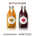 a realistic glass bottle of... | Shutterstock .eps vector #660675262