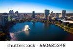 orlando florida  lake eola.... | Shutterstock . vector #660685348