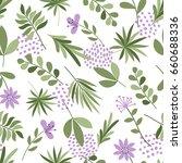 simple plants pattern. seamless ... | Shutterstock .eps vector #660688336