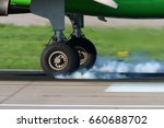 wheels of civil passenger... | Shutterstock . vector #660688702