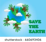 save the earth illustration | Shutterstock .eps vector #660693406