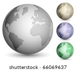 Shiny Metallic Globe Set