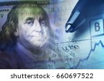 financial data and dollars.... | Shutterstock . vector #660697522