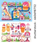 stock set vector illustration... | Shutterstock .eps vector #660698752