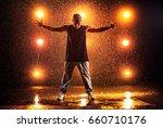 young man break dancer standing ...   Shutterstock . vector #660710176
