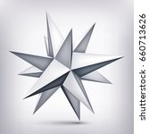 volume polyhedron gray star  3d ...