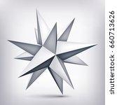 volume polyhedron gray star  3d ...