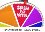 spin to win game show wheel... | Shutterstock . vector #660719062
