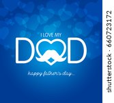 fathers day vector illustration | Shutterstock .eps vector #660723172