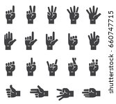 hand sign icons black edition | Shutterstock .eps vector #660747715