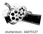 movie elements with gradient  ... | Shutterstock .eps vector #66075127