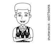 business man icon portrait... | Shutterstock .eps vector #660756646