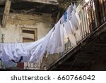 Line Drying Laundry