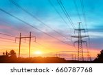 electricity tower | Shutterstock . vector #660787768