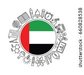 vector  united arab emirates...   Shutterstock .eps vector #660828538