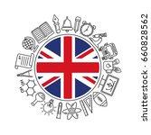 vector  united kingdom school... | Shutterstock .eps vector #660828562