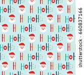 seamless christmas background... | Shutterstock .eps vector #660837166