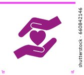 heart and hands vector icon | Shutterstock .eps vector #660842146