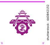 repair of railway vector icon | Shutterstock .eps vector #660842152