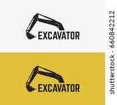 excavator logo template designs ... | Shutterstock .eps vector #660842212