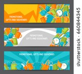 advertising banners with...   Shutterstock .eps vector #660844345