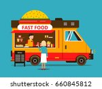 cartoon illustration of food... | Shutterstock .eps vector #660845812