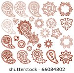 big set of paisley and mehndi... | Shutterstock .eps vector #66084802