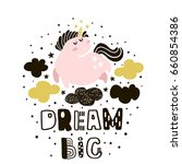 dream big. childish... | Shutterstock .eps vector #660854386