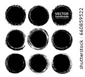 abstract black circle strokes ... | Shutterstock .eps vector #660859522