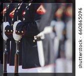 united states marine corps.... | Shutterstock . vector #660865096