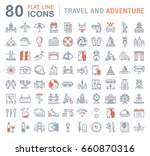 set vector line icons  sign and ... | Shutterstock .eps vector #660870316